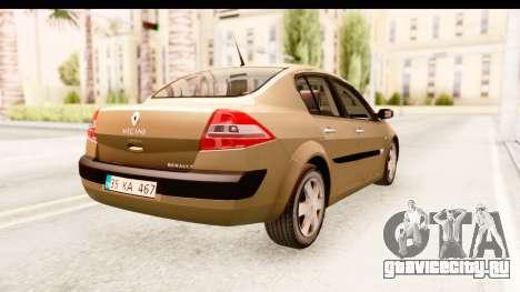 Renault Megane 2 Sedan 2003 для GTA San Andreas вид сзади слева