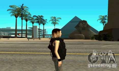 Женщина-тренер SWAT для GTA San Andreas второй скриншот