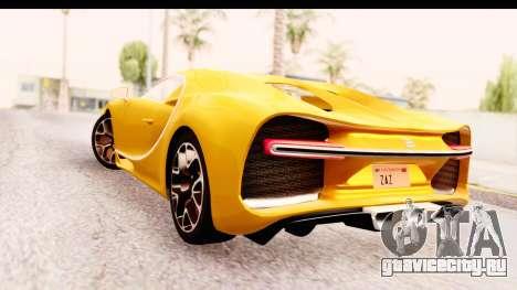 Bugatti Chiron 2017 v2.0 Updated для GTA San Andreas вид слева
