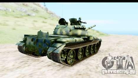 T-62 Wood Camo v3 для GTA San Andreas вид сзади слева