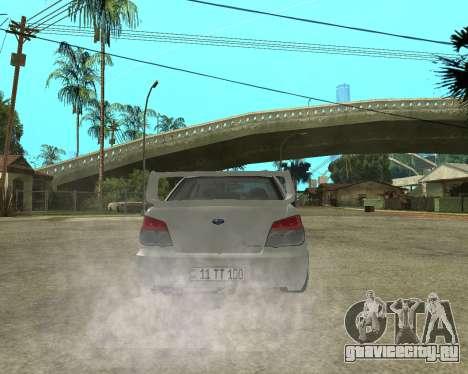 Subaru Impreza Armenian для GTA San Andreas двигатель