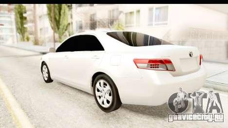 Toyota Camry GL 2011 для GTA San Andreas вид слева