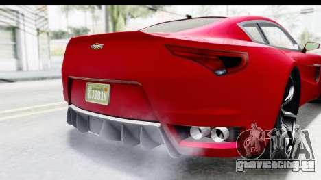 GTA 5 Dewbauchee Seven 70 IVF для GTA San Andreas вид снизу