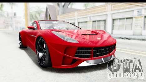 GTA 5 Dewbauchee Seven 70 IVF для GTA San Andreas вид справа