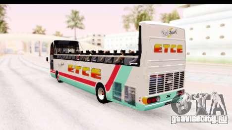 Bus Tours Dic Megadic 4x2 ETCE для GTA San Andreas вид слева