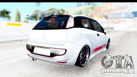 Fiat Punto Abarth для GTA San Andreas вид сзади слева