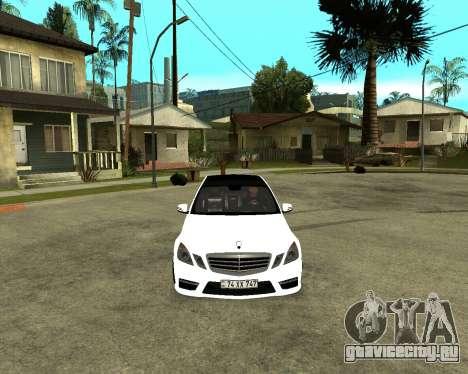 Mercedes-Benz E250 Armenian для GTA San Andreas вид сзади слева