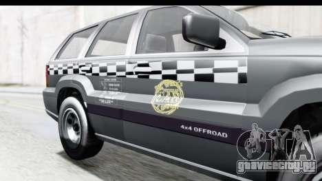 GTA 5 Canis Seminole Taxi для GTA San Andreas вид сзади