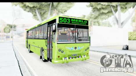 Bus La Favorita Ecotrans для GTA San Andreas вид сзади слева