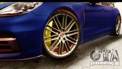 Porsche Panamera 4S 2017 v4 для GTA San Andreas вид сзади