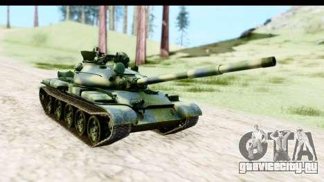 T-62 Wood Camo v3 для GTA San Andreas вид справа