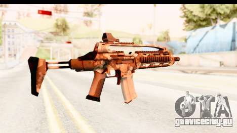 SCAR-LK Hex Camo Tan для GTA San Andreas второй скриншот