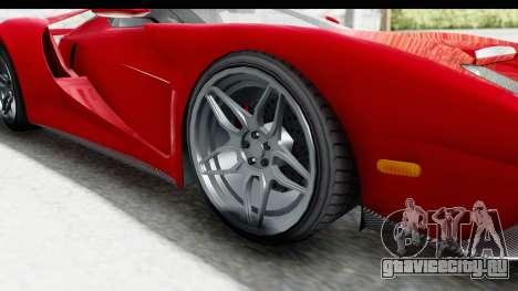 GTA 5 Vapid Bullet Face FMJ для GTA San Andreas вид сзади