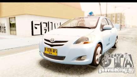 Toyota Vios 2008 Taxi Blue Bird для GTA San Andreas