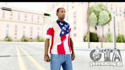 T-Shirt USA Flag для GTA San Andreas