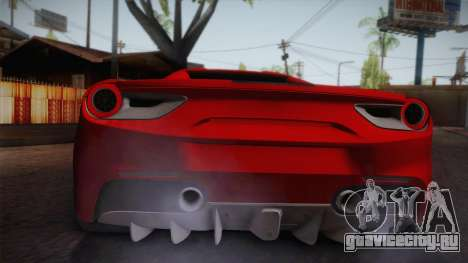 Ferrari 488 Spider для GTA San Andreas вид справа
