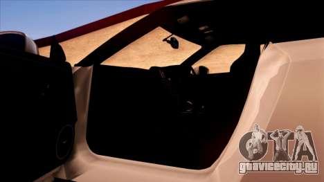 Nissan GT-R R35 для GTA San Andreas салон