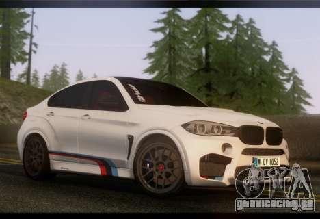 BMW X6M PML ED для GTA San Andreas вид сзади слева