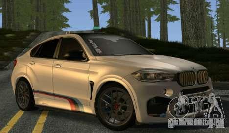 BMW X6M PML ED для GTA San Andreas вид сзади