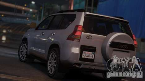 Toyota Land Cruiser Prado 2014 для GTA 5 вид сзади слева