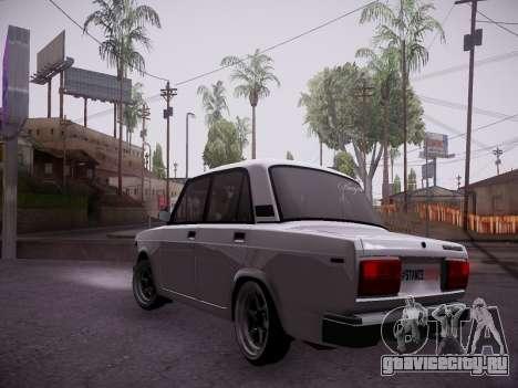 VAZ 2107 Tipo-stance для GTA San Andreas вид сзади слева