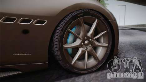 Maserati Gran Turismo Sport для GTA San Andreas вид сзади
