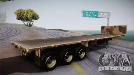GTA 5 Army Flat Trailer IVF для GTA San Andreas вид слева
