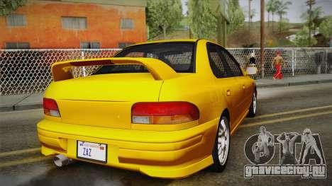 Subaru Impreza WRX STI GC8 1999 v1.0 для GTA San Andreas вид сбоку