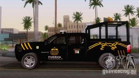 Chevrolet Silverado de la Fuerza Coahuila для GTA San Andreas вид сзади
