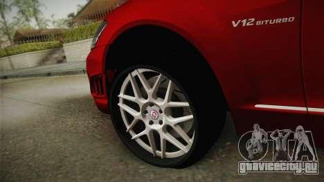 Mercedes-Benz W221 S65 Stance v2 для GTA San Andreas вид сзади