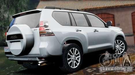 Toyota Land Cruiser Prado 2014 для GTA 5 вид слева