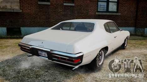 Pontiac LeMans Coupe 1971 для GTA 4 вид сзади слева