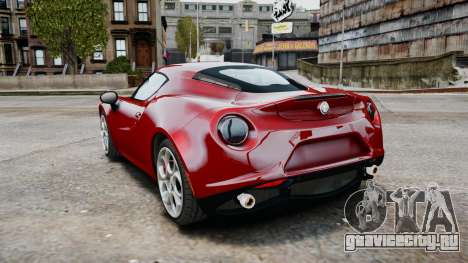 Alfa Romeo 4C 2016 для GTA 4 вид справа