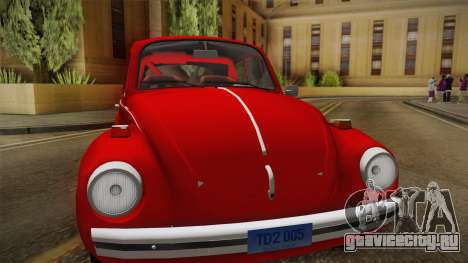 Volkswagen Beetle Escarabajo для GTA San Andreas вид сзади слева