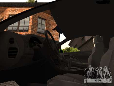 Mitsubishi Eclipse The Fast and the Furious для GTA San Andreas вид сзади