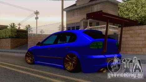 Seat Leon Haur Edition для GTA San Andreas вид сзади слева