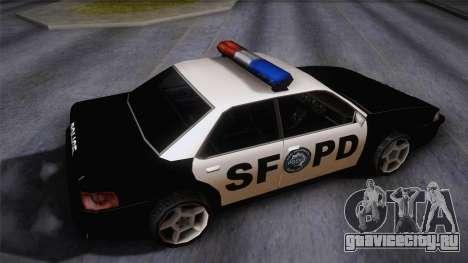 Sultan SFPD для GTA San Andreas вид сзади слева