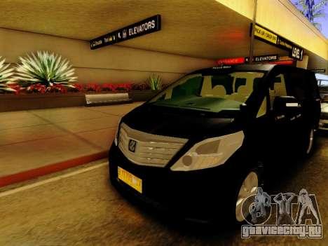 Toyota Alphard Taxi Silver Bird для GTA San Andreas