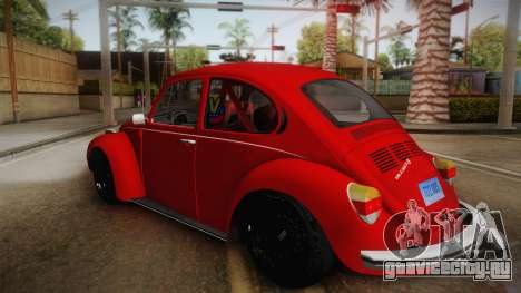 Volkswagen Beetle Escarabajo для GTA San Andreas вид слева
