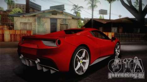 Ferrari 488 Spider для GTA San Andreas вид слева
