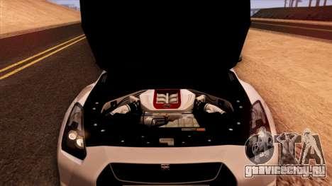 Nissan GT-R R35 для GTA San Andreas вид сверху