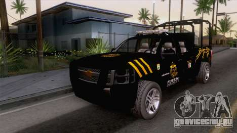 Chevrolet Silverado de la Fuerza Coahuila для GTA San Andreas