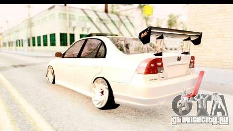 Honda Civic Vtec 2 Berkay Aksoy Tuning для GTA San Andreas вид справа
