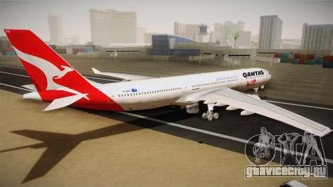 Airbus A330-300 Qantas 80 Years для GTA San Andreas вид слева