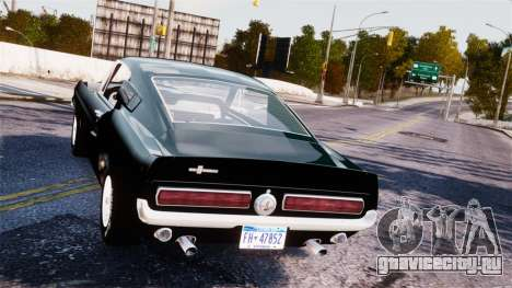 Ford Mustang Shelby GT500 1967 для GTA 4 вид справа