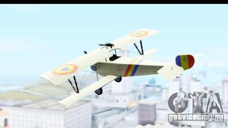 Nieuport 11 Bebe - Nr.865 Romania для GTA San Andreas вид слева