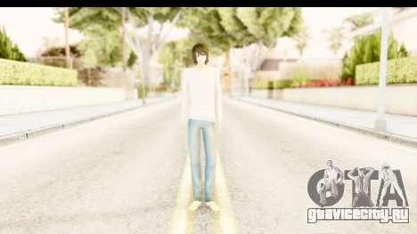 L Lawliet (Death Note) для GTA San Andreas второй скриншот