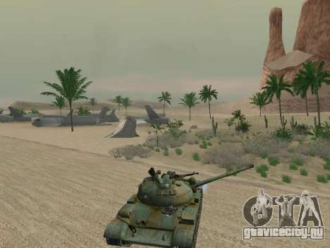 Т-62 для GTA San Andreas колёса