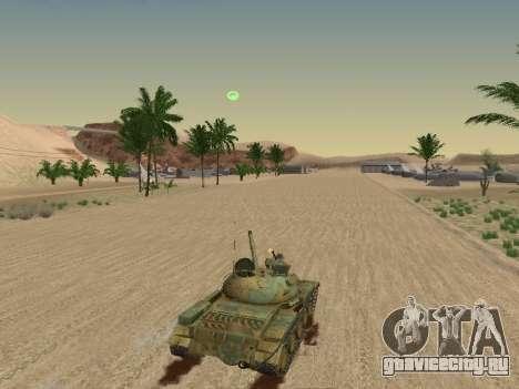 Т-62 для GTA San Andreas салон