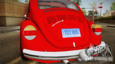 Volkswagen Beetle Escarabajo для GTA San Andreas вид справа